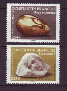 J20492 Jlstamps 2006 france set mnh #3245-6 sculptures