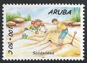 Aruba B60 100c + 50c Children Playing in Sand 2000 mnh