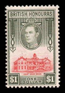 British Honduras 1938 KGVI $1 SG 159 mint CV £50
