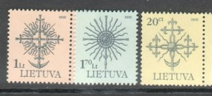 LITHUANIA DEFINITIVES 2000 SET OF 3 MNH R2021196