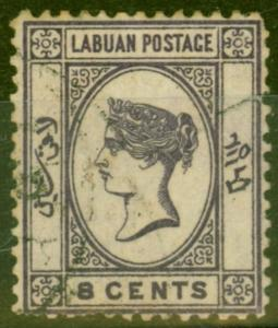 Labuan 1892 8c Violet SG41 Good Used.