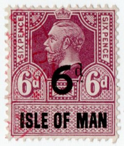 (I.B) George V Revenue : Isle of Man 6d