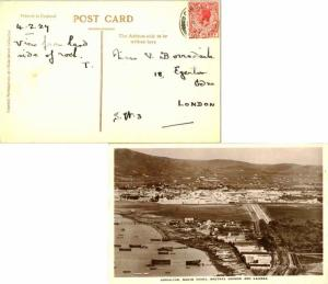 Gibraltar 1d KGV 1927 Gibraltar, 25 PPC (North Front, Neutral Ground and Lali...