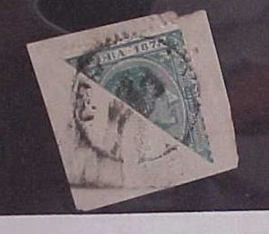 CUBA STAMP BISECT #79B cat.$100.00 on COVER THIS IS A PIECE