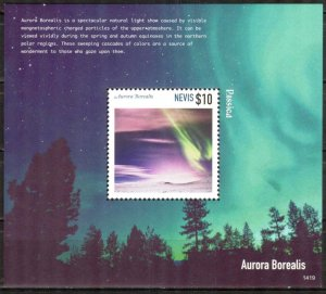 Nevis 2014 Rossica Space Aurora Borealis S/S MNH