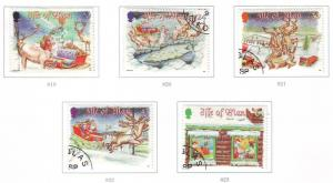 Isle of Man Sc 803-7 1998 Christmas stamp set used