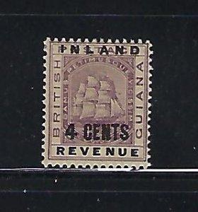 BRITISH GUIANA SCOTT #115 1889 4 CENTS  OVERPRINT- MINT LIGHT HINGED