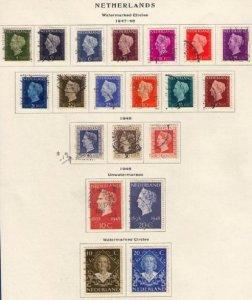 Netherlands Sc #286-305 Used A Complete Set + Sc 302-305 On a Scott Page F-VF