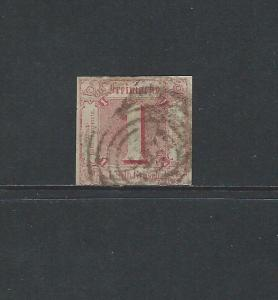 GERMANY THURN & TAXIS NORTHERN DISTRICT - #18 - 1 SG ROSE IMPERF (1862)