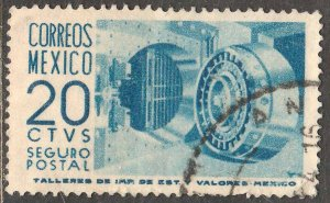 MEXICO G10, 20cents 1950 Definitive 1st Printing wmk 279 USED VF (1137)