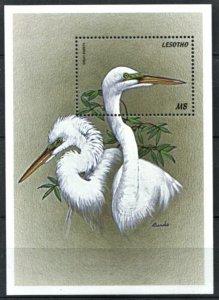 1999 Lesotho 1483/B145 Birds