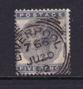 Great Britain a QV 5d blue from 1880 used