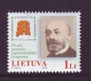 Lithuania Sc 795 2005 Esperanto Congress stamp mint NH