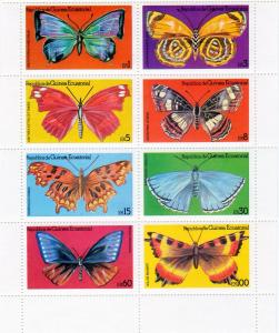 Equatorial Guinea 1979 Butterflies Shlt(8)Perf.MNH Yvert 125