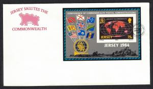 Jersey Links with the Commonwealth FDC SG#MS333