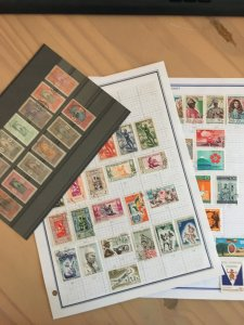 Collection of Dahomey stamps
