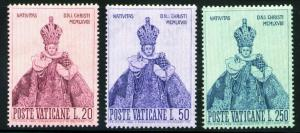 VATICAN Scott 464-6 MNH** 1968 Prague Holy Infant set CV$.60