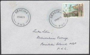 PAPUA NEW GUINEA 1979 cover ex BEREINA......................................M286