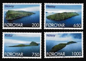 Faroe Is. Islands of the Faroes 4v SG#363=375 SC#383-386