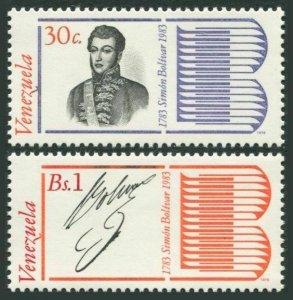 Venezuela 1193-1194,MNH.Mi 2118-2119. Bolivar 1979.Alexander Sabes Petion,