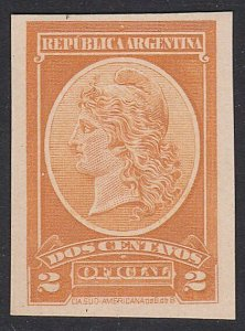 ARGENTINA - Plate proof on thick card.......................................D691