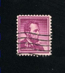 USA #1036  7 used 1954-1968 PD .08