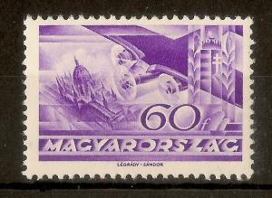 Hungary 1936 60f Fokker SG585 Mint Cat£25
