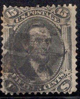 US Stamp Scott #98 F Grill Used SCV $275