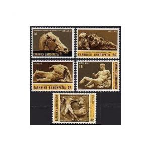 Greece 1487-1492,MNH.Michel 1546-1550,Bl.4. Marble from Parthenon,Horses.1984.