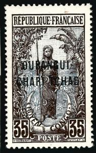 French Ubangi-Shari (Sc #14) VF Mint OG hr...Difficult to find!