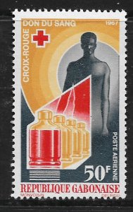 GABON  C54 MNH BLOOD DONOR ISSUE 1967