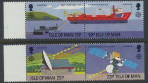 Isle of Man - SG 381a-383a SC# 364a-366a MUH se-tenant Europa Transport & Tel...
