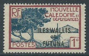 Wallis & Futuna Islands, Sc #43, 1c MH