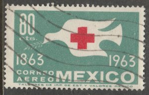 MEXICO C277, Centenary International Red Cross. Used. VF.  (1156)