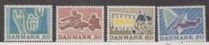 Denmark Scott #482-485 Stamp - Mint NH Set