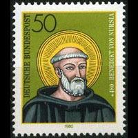GERMANY 1980 - Scott# 1334 St.Benedict Set of 1 NH