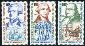 Cameroun Scott C227-C229 MNHOG - 1975 US Bicentennial Set - SCV $11.90