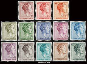 Luxembourg Scott 362-373 Mint never hinged.