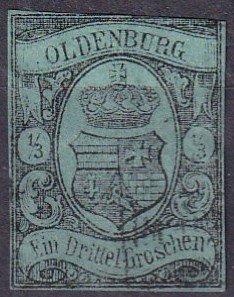 Oldenburg #5 F-VF Used Counterfeit CV $2900.00 (Z3107)