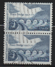 US Used Multiple pair # 1721 Peace Bridge.  Dove