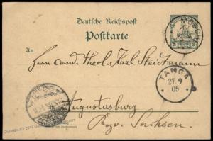 Germany 1905 East Africa MAMBA DOA MOSCHI TANGA Cover Stationery 87110