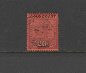 Gold coast 1889/1904 20/- Dull mauve & black Used SG 25