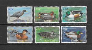DUCKS - KIRIBATI #772-77  MNH