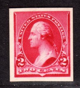 $US Sc#220P4 Mint/XF, Plate Proof on card, Cv. $200