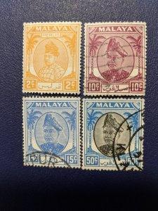 Malaya - Perlis 8, 13-14, 18 VF, CV $16.75