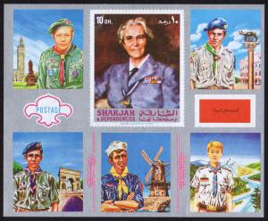 Sharjah Mi Block 101 (#925) mnh s/s - 1971 Scouts of Europe - Lady Baden Powell