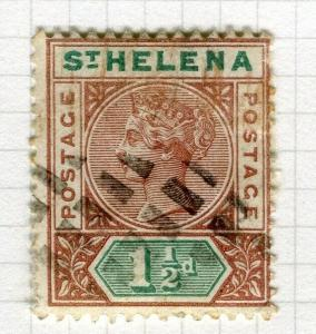 ST. HELENA; 1890-97 early QV issue fine used 1.5d. value