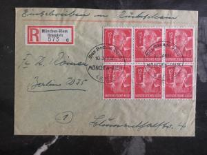 1944 Munich Germany Registered Cover Labor Corpsman #b282