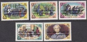 Belize 777-781 MNH CV $9.00