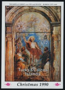 Turks & Caicos 876 MNH Christmas, Art, Paintings